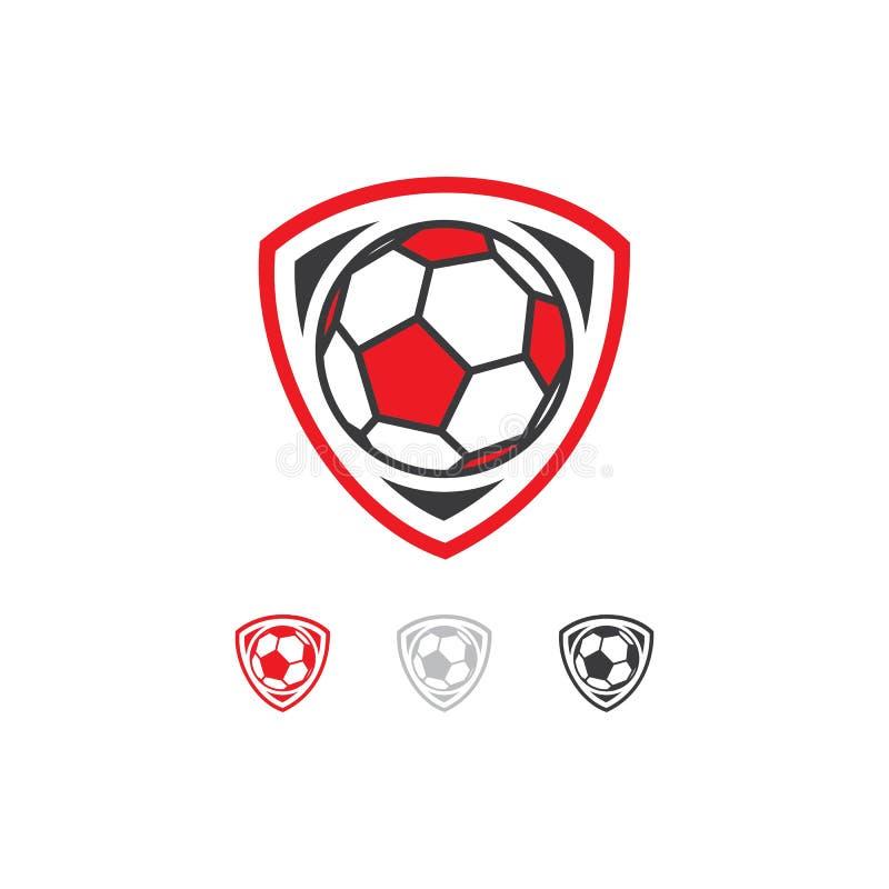 Fußballteam-Logoentwurf lizenzfreie abbildung
