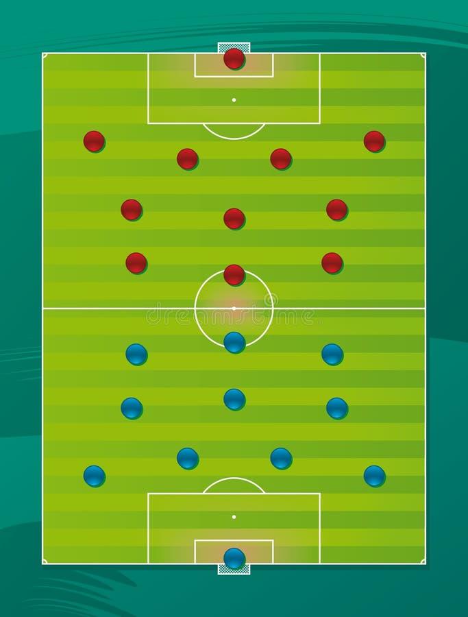 Fußballteam-Taktikfeld lizenzfreie abbildung