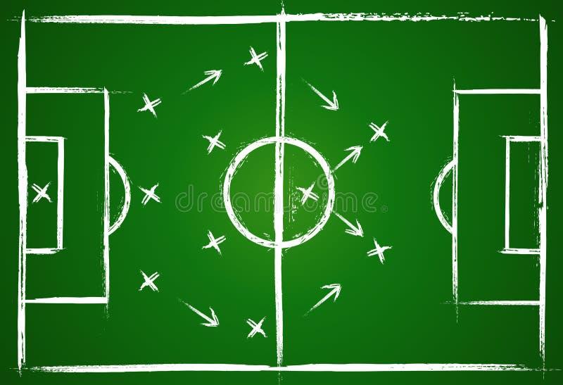 Fußballteamwork-Strategie vektor abbildung