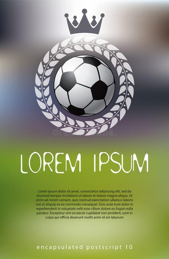 Fußballthemahintergrund vektor abbildung