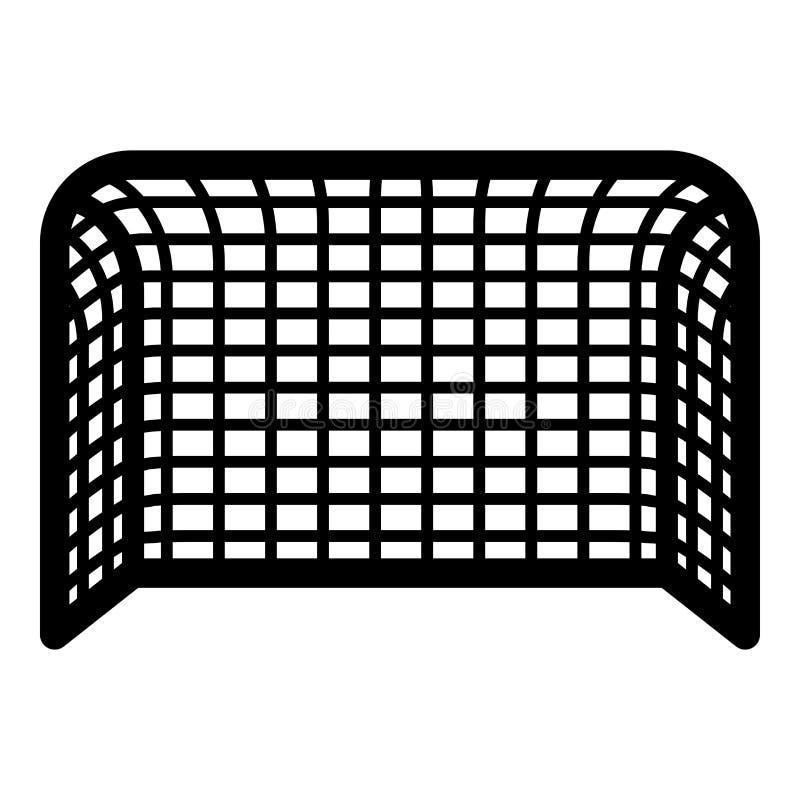 Fußballtor Fußballtor Handballtor Konzeptergebnisikonenschwarz-Farbillustration stock abbildung