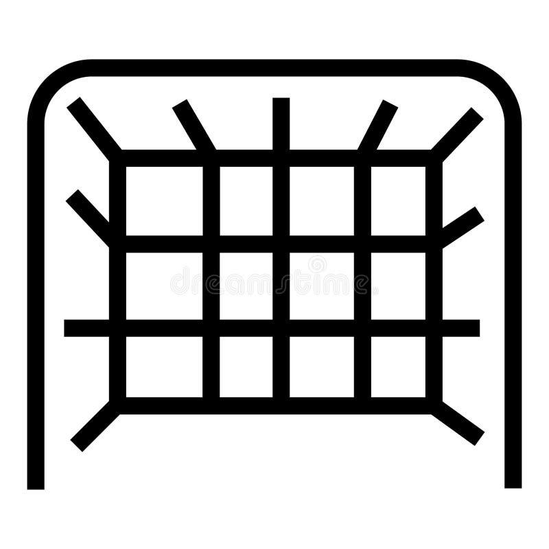 Fußballtor-Vektorikone lizenzfreie stockbilder