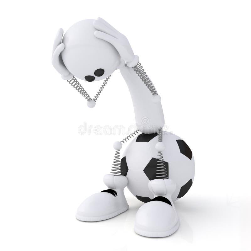 Fußballtorhüter der Person 3d. stockfotografie