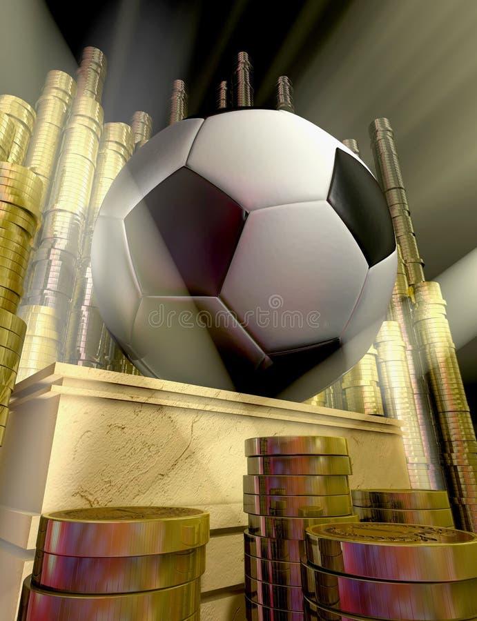 Fußballtrophäe stock abbildung
