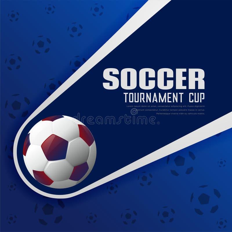 Fußballturnierfußball trägt Plakathintergrund zur Schau lizenzfreie abbildung