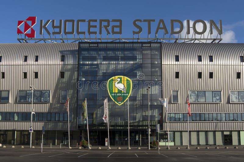 Fußballverein AUFHEBEN Den Haag der ersten Liga Kyocera-Stadions. lizenzfreies stockbild