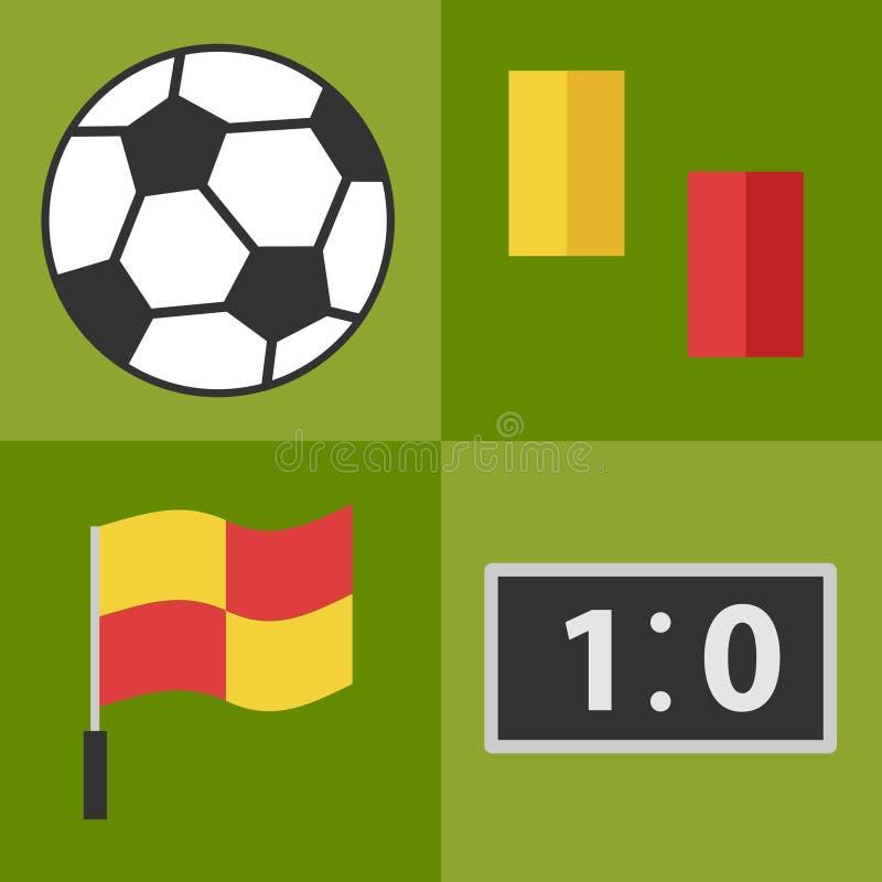 Fußballzubehör stock abbildung