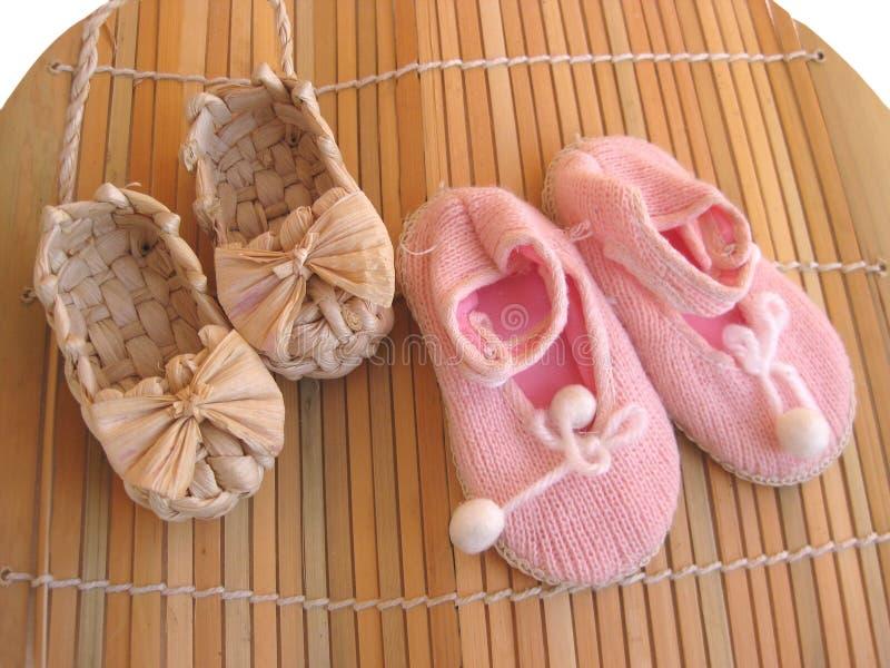 Fußbekleidung des Schätzchens lizenzfreies stockbild