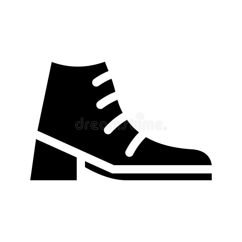 Fußbekleidung Glyph-Vektorikone lizenzfreie abbildung