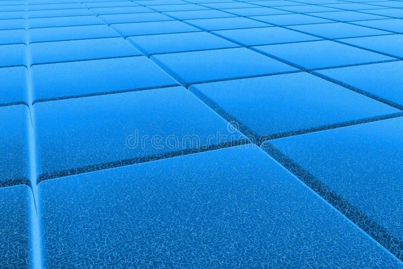 Fußboden des Blaus 3D lizenzfreie stockfotos