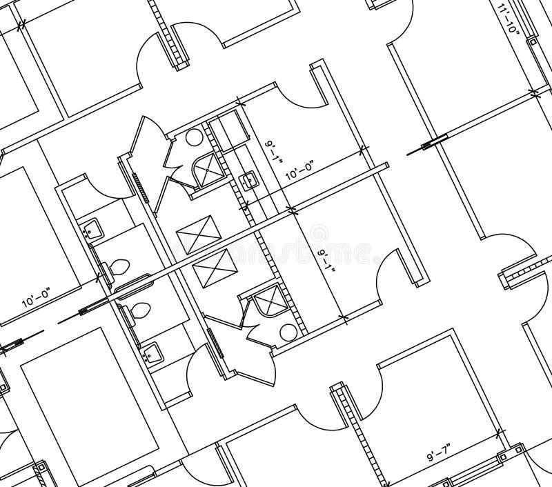 Fußboden-Plan stock abbildung