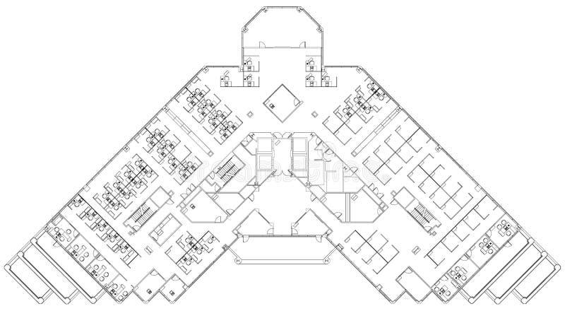 Fußbodenplan lizenzfreie abbildung