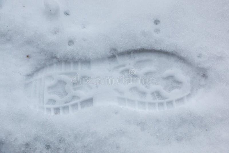 Schuhabdruck Auf Der Straße Stockfoto Bild von bürgersteig
