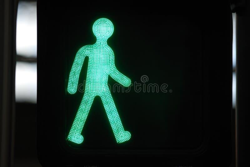 Fußgängerübergang-Zeichen stockfoto