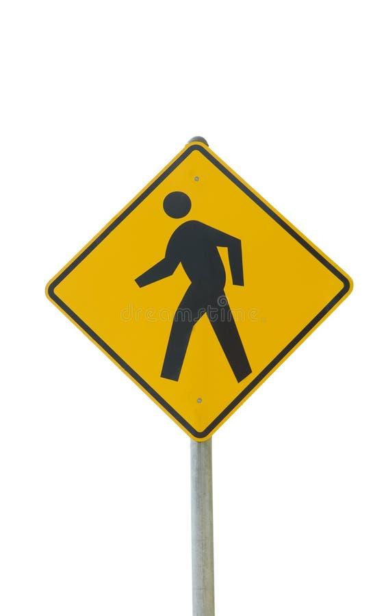 Fußgängercrosswalkzeichen lizenzfreie stockfotografie