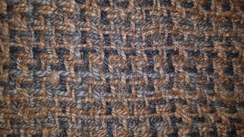 Fußmatte der natürlichen Faser der Teppich-Coir passend für Gebrauch als Hintergrundbeschaffenheit lizenzfreie stockfotografie