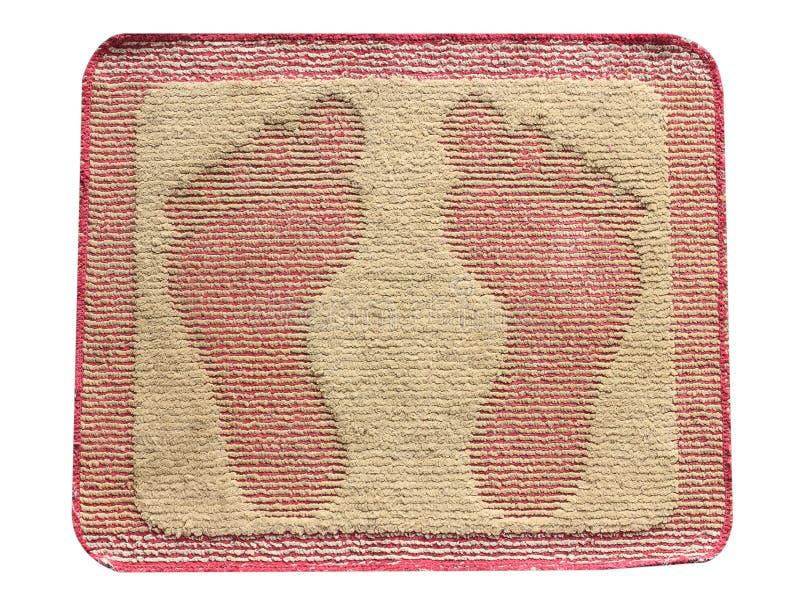 Fußmattenfußisolat stockfotos