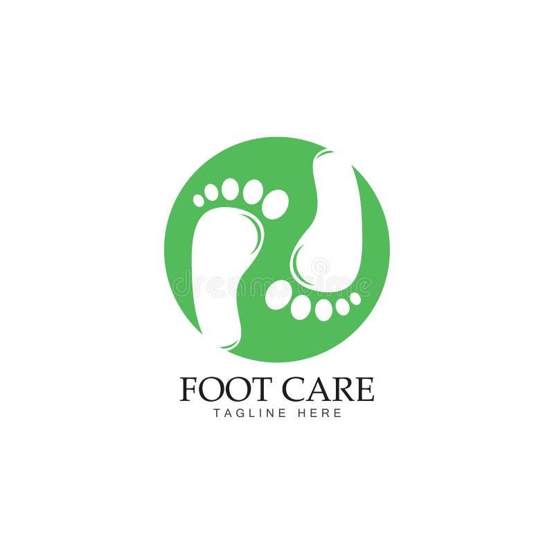 Fußpflegelogo-Schablonenentwurf lizenzfreie abbildung