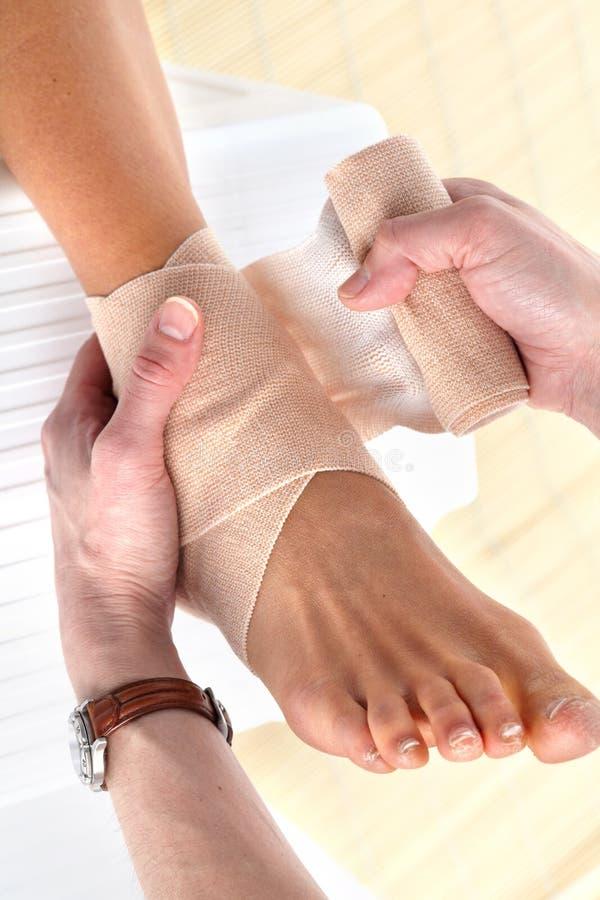 Fußschmerz stockbild