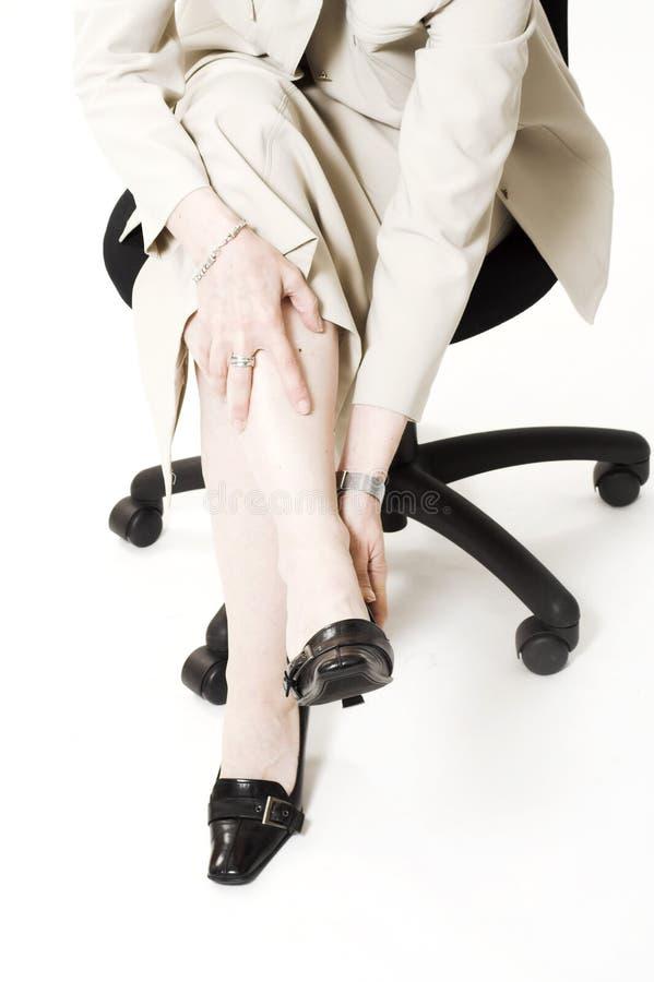 Fußschmerz lizenzfreies stockfoto