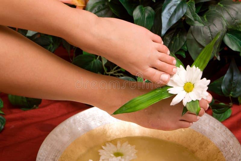Fußsorgfalt stockbild