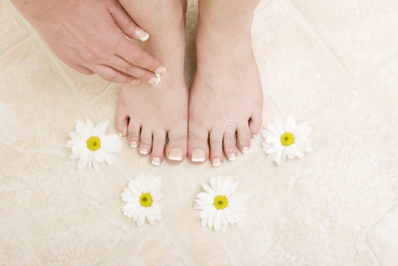 Fußsorgfalt stockbilder