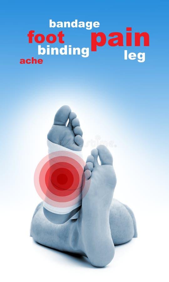 Fußverletzung stockfotos
