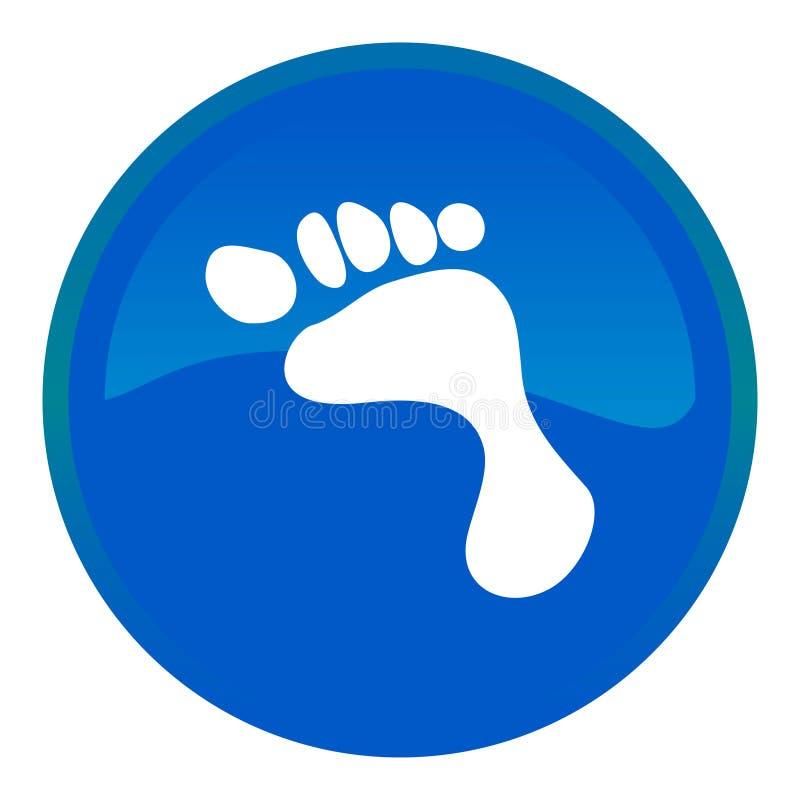 Fußweb-Taste lizenzfreie abbildung