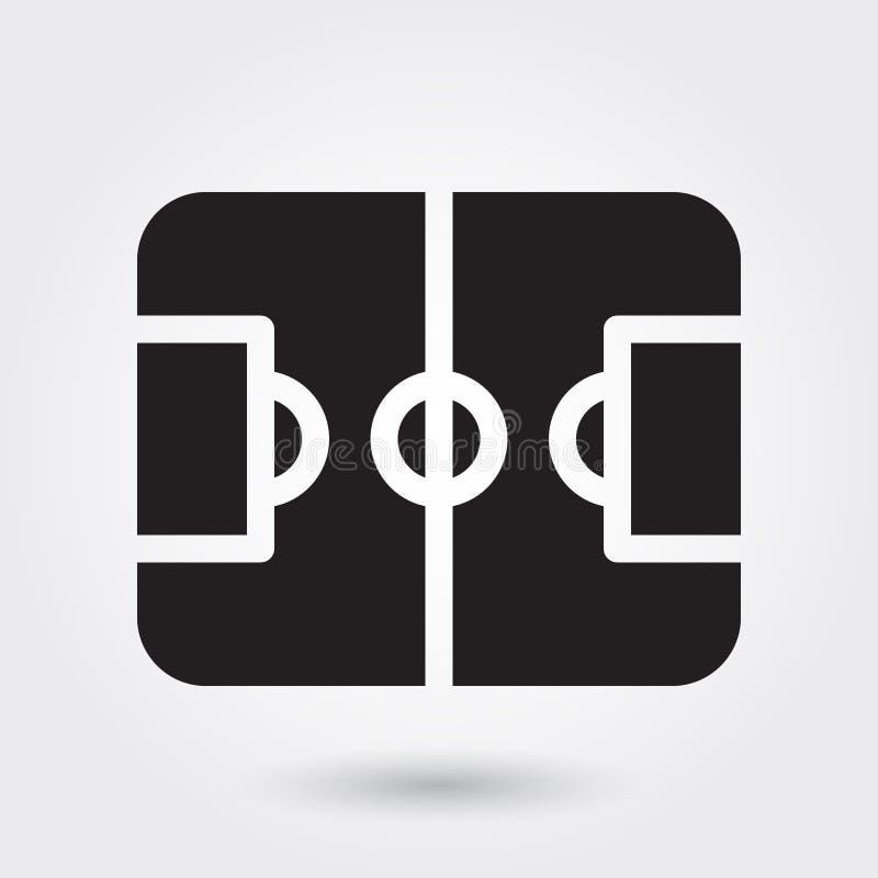 Fußballplatzsport-Vektorikone, Sportfeldikone, Fußballplatzsymbol Moderner, einfacher Glyph, fester Vektor stock abbildung