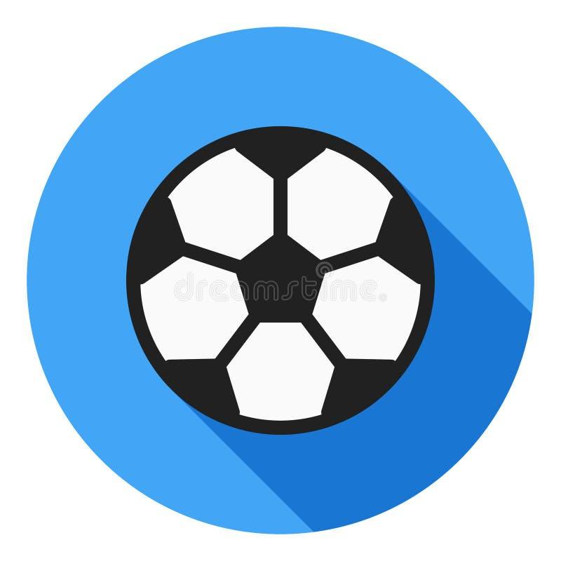 Fußballvektorikone, Fußballikone, Sportballsymbol Moderne, flache lange Schattenvektorikone vektor abbildung