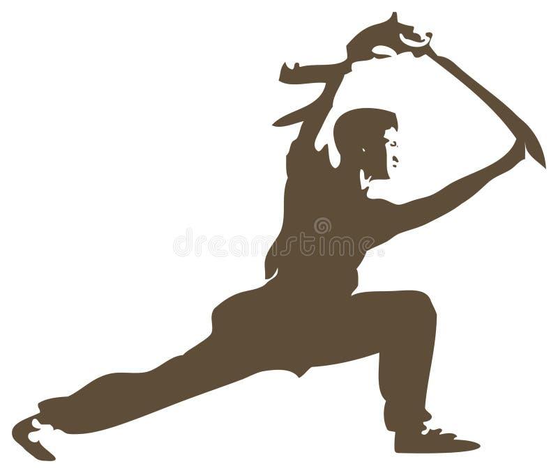 Fu de Shaolin Kung ilustração royalty free