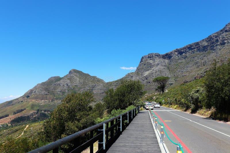 Am Fu? des Tafelbergs in Cape Town stockbild