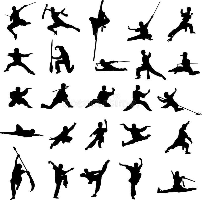 Fu do kung de China ilustração do vetor