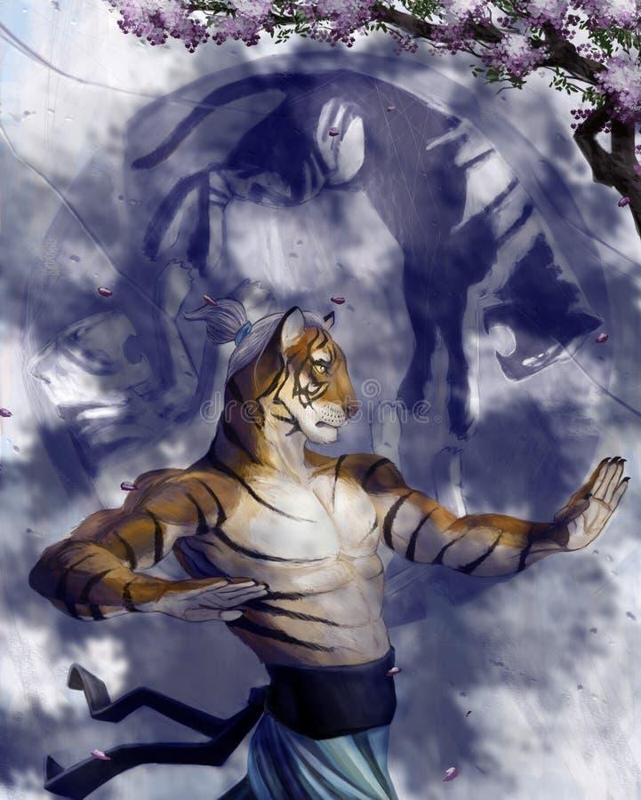 fu kung mistrz ilustracja wektor