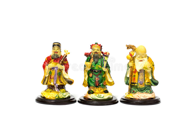 Fu Lu Shou royaltyfria foton