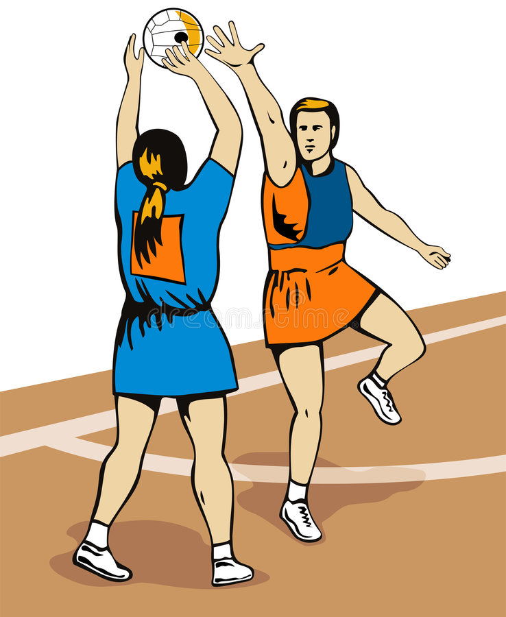 Download Fucilazione Del Giocatore Del Netball Illustrazione Vettoriale - Illustrazione di fucilazione, salto: 3889888