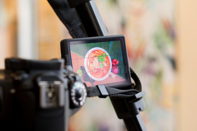 Fucilazione della fotografia di alimento tailandese fotografie stock libere da diritti