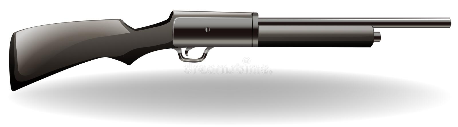 Download Fucile illustrazione vettoriale. Illustrazione di firearm - 55365272