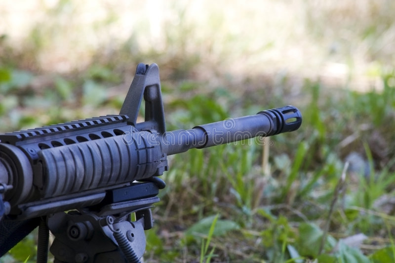 Fucile AR-15 immagine stock libera da diritti