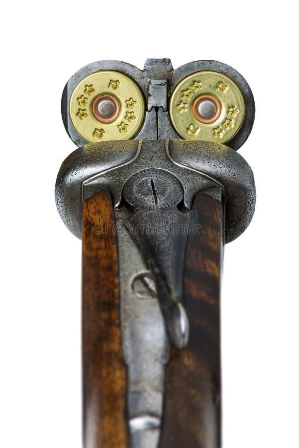 Fucile da caccia caricato immagine stock libera da diritti