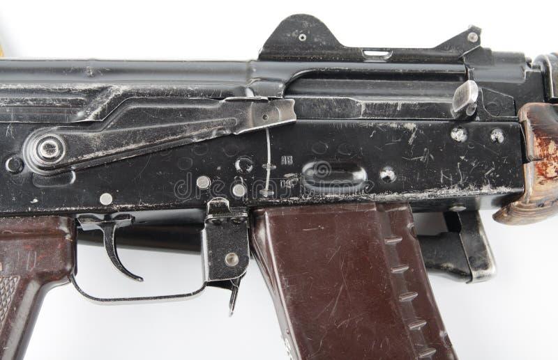 Fucile del Kalashnikov Prima posizione della leva di sicurezza immagine stock