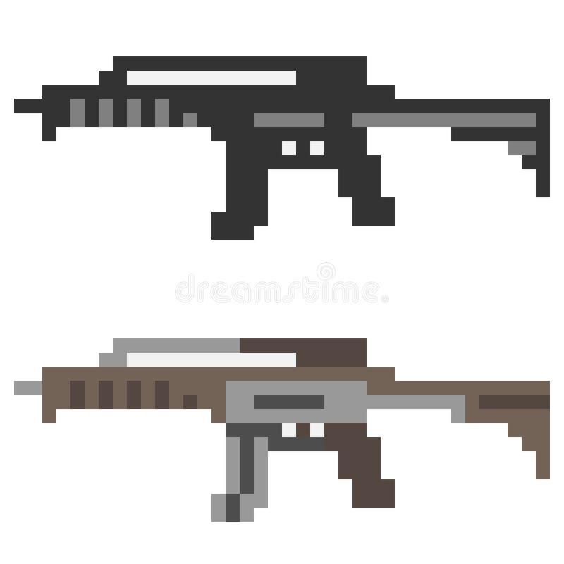 Download Fucile Di Assalto Della Pistola Dell'icona Di Arte Del Pixel Dell'illustrazione Illustrazione Vettoriale - Illustrazione di assalto, moderno: 55361971