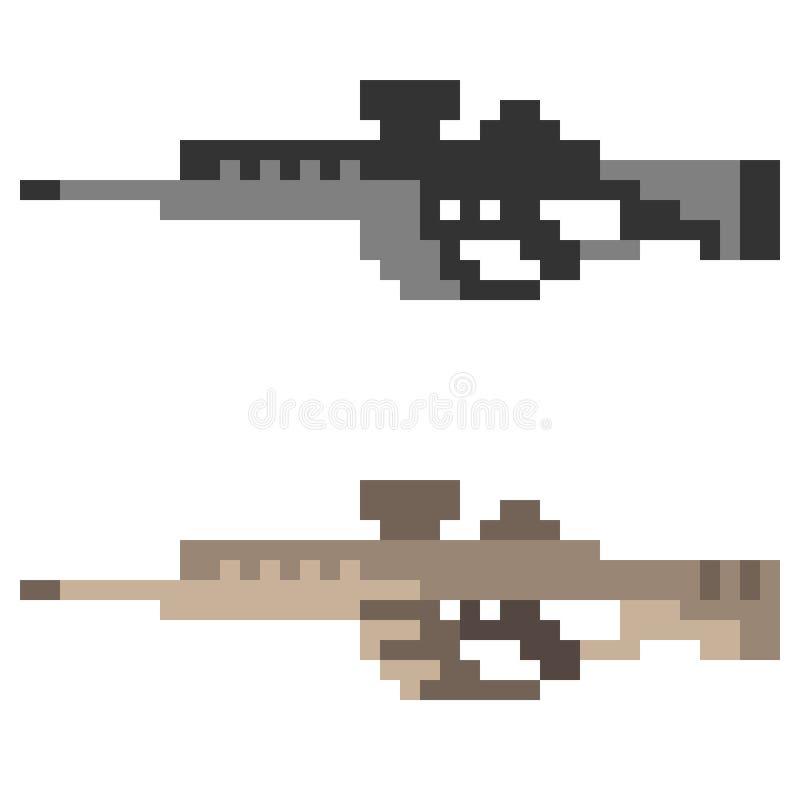 Download Fucile Di Assalto Della Pistola Dell'icona Di Arte Del Pixel Dell'illustrazione Illustrazione Vettoriale - Illustrazione di macchina, oggetto: 55361992