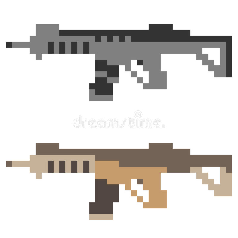 Download Fucile Di Assalto Della Pistola Dell'icona Di Arte Del Pixel Dell'illustrazione Illustrazione Vettoriale - Illustrazione di arma, macchina: 55362008