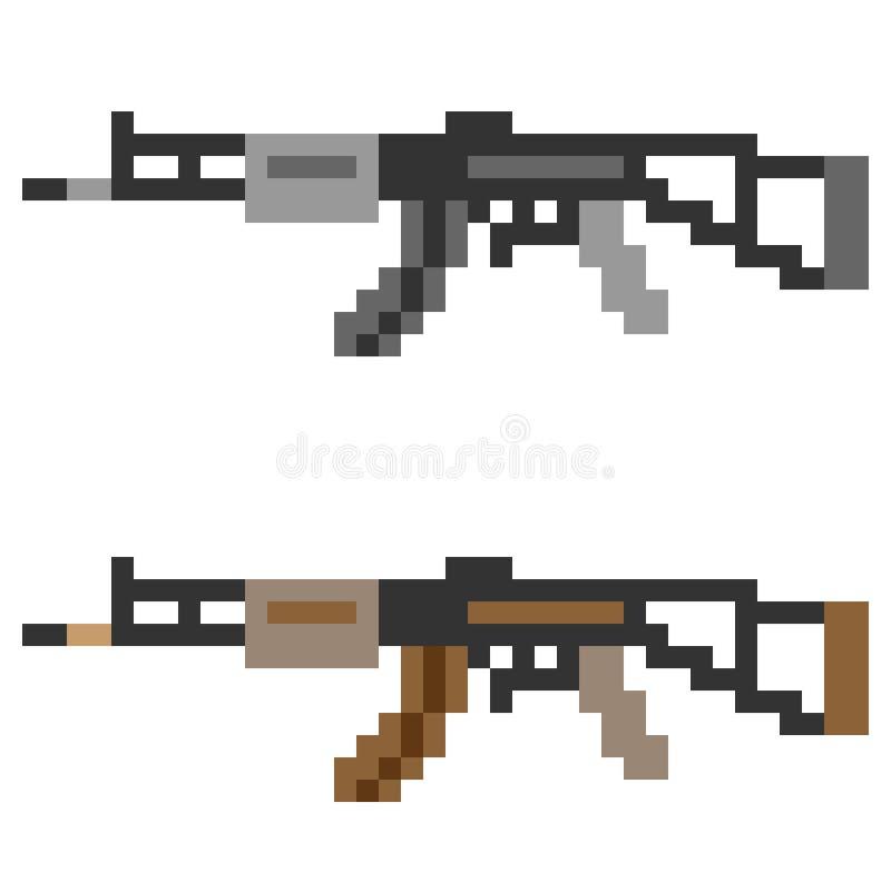 Download Fucile Di Assalto Della Pistola Dell'icona Di Arte Del Pixel Dell'illustrazione Illustrazione Vettoriale - Illustrazione di pistola, macchina: 55362122