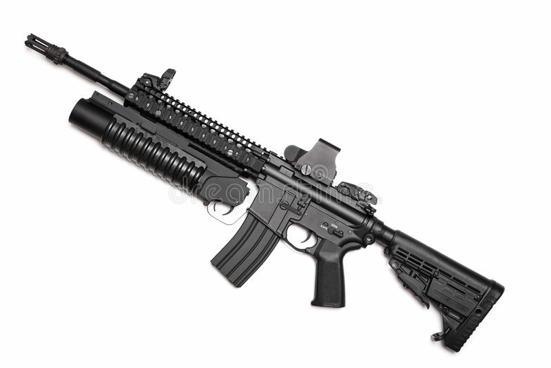 Fucile di assalto di spec. Ops M4A1 degli Stati Uniti immagine stock libera da diritti