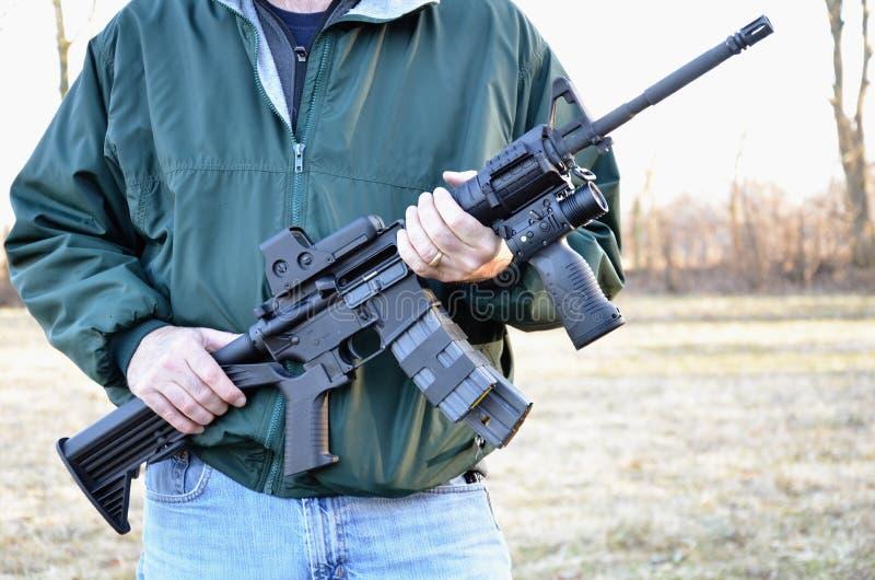 Fucile semiautomatico M-4 fotografia stock libera da diritti