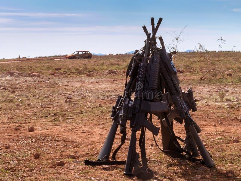 Fucili di assalto americani immagine stock