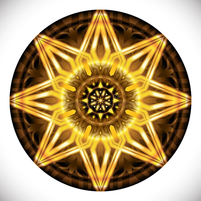 Fucinette Medallion: Geometric Vector Art Octagonal Design. vector illustration