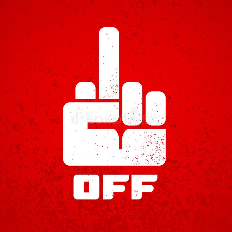 Free Fuck Off Hand Finger Sign Icon Isolated On Red Grunge Background Stock Photography - 150468372